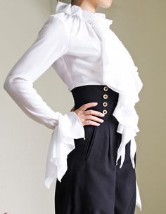 Hand made lady blouse with matched cravat, decent price, comfy fitting, standard size and custom size doable, express shipping