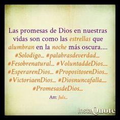 Las promesas de Dios en nuestras vidas son el norte hacia donde vamos.... #Solodigo... #palabrasdeverdad... #Fesobrenatural... #VoluntaddeDios.... #EsperarenDios... #PropositosenDios... #VictoriaenDios... #Diosnuncafalla.... #PromesasdeDios...