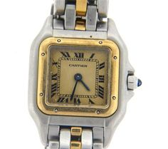 Cartier Panthere 18k Gold Steel Watch Featured in our upcoming auction on November 2, 2015 11:00AM EST!