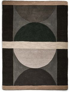 Buy the Pure Wool Semi Circles Rug from Marks and Spencer's range. Circle Rug, Circle Pattern, Geometric Rug, Carpet Runner, Contemporary Style, Wool Rug, Pure Products, Retro, Rugs