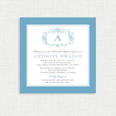 Boy Baptism Invitation  DIY Printable Invite  by MsfitDesigns, $20.00