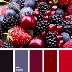 The combination of berry shades – dewberry, raspberry, blueberry, strawberry – and a pomegranate. This color scheme might look peculiar when complementing delicate wedding decoration: dark, rich range of fresh flower bouquets used to decorate the room will accentuate solemnity of the moment.