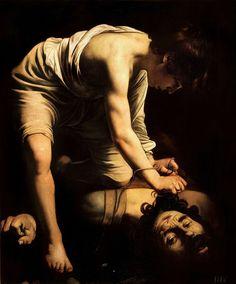 Caravaggio, David vencedor de Goliat (1600). Museo del Prado, Madrid, España.