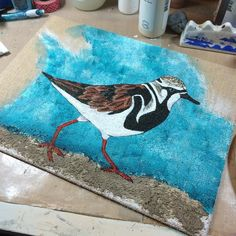 This is looking much better. #mixedmedia #painting #birds #art