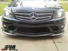 For-08-11-M-BENZ-W204-C63-AMG-Only-Carbon-Fiber-GH-Style-Front-Bumper-Add-on-Lip