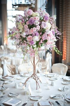 a softer arrangement,but use my wedding colours and add crystals