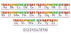 Emoji Alphabet Line Bulletin Board Set Standard Manuscript