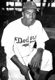 In 1947, Jackie Robinson put on number 42, and broke the color barrier in Major League Baseball.