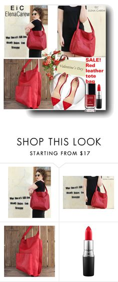 """ElenaCarew-SALE Red tote bag!"" by fahreta1992 ❤ liked on Polyvore featuring MAC Cosmetics, Chanel, Gianvito Rossi, women's clothing, women, female, woman, misses and juniors"
