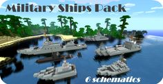 minecraft miletery | military ships pack 6 schematics submarine 19 military ships pack 6 ...