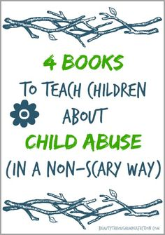 It's so important to start the conversation about abuse and prevention with children at a young age! Great ideas and books that can help you start the discussion with your little ones without scaring them.