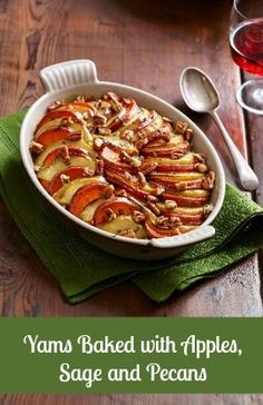 ... these Yams Baked with Apples and topped with sage and Diamond Pecans