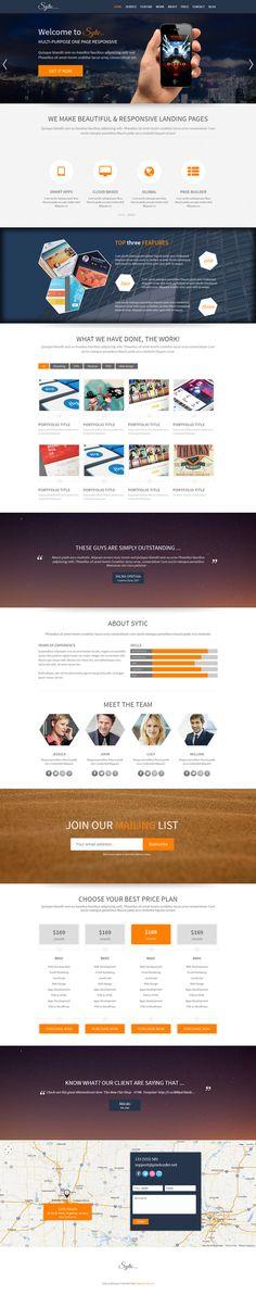 Sytic - WP Responsive Multipurpose Theme by Themes Awards, via Behance