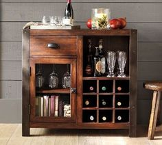 Cabinet below bar