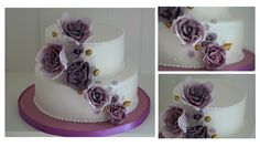 The lila wedding cake inspired by a smaller cake made in Toronto. Lavender Roses, Rose Cake, Small Cake, Zurich, How To Make Cake, Wedding Cakes, Lady, Toronto, Desserts