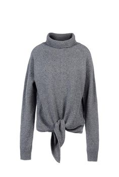 Vanessa Bruno gray turtleneck tie sweater–and 9 more of the best sweaters for fall
