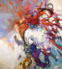 Blu Smith - Impact - mixed media on canvas - 48 x 54
