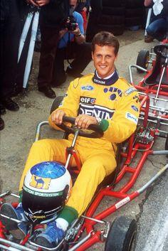 Meet the extraordinary Michael Schumacher. A legend in his own right, Michael… Michael Schumacher, Mick Schumacher, Schumacher Racing, Karting, Grand Prix, Kart Racing, F1 Racing, Alain Prost, Formula 1