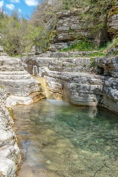Ovires Pools near the village of Papigo, Zagorohoria, Epirus region, Greece