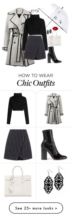 """Rainy Day Chic"" by cellycinderella on Polyvore featuring Lanvin, Valentino, Kate Spade, New Look, Yves Saint Laurent and Lime Crime"