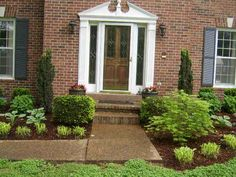 Front of house clean landscaping