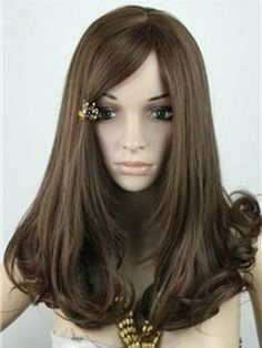 2014New Arrival Meddle Parting Light Brown Heat Resistant Synthetic Wig Body Wavy