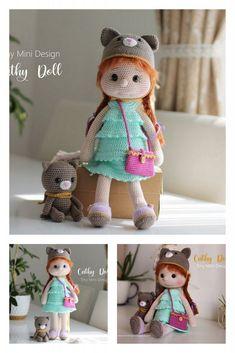 Amigurumi Wendesday Addams Free Pattern Amigurumi Doll, Amigurumi Patterns, Crochet Patterns, Crochet Needles, Hello Dear, Chain Stitch, Single Crochet, Free Crochet, Giraffe