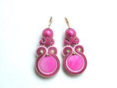 Fuchsia  soutache earrings by Bajobongo on Etsy, $25.00