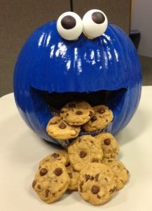 marketings cookie monster pumpkin for our companys pumpkin carving contest also the cookies