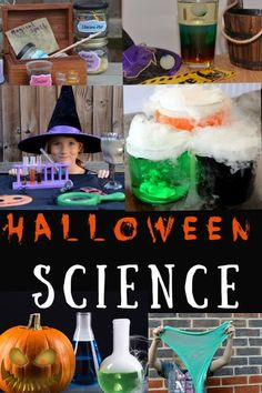 Spooky science experiments for Halloween. make potions, lava lamps, slime amd more great science for Halloween #scienceforkids #Halloweenscience