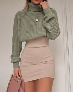 Jú🦋 Trendy Fall Outfits, Spring Outfits Women, Winter Fashion Outfits, Retro Outfits, Girly Outfits, Cute Casual Outfits, Look Fashion, Stylish Outfits, Fashion Spring