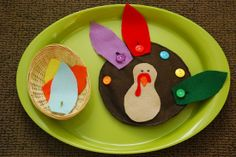 Turkey buttoning activity Montessori lesson