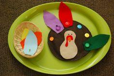 Turkey buttoning activity Montessori lesson
