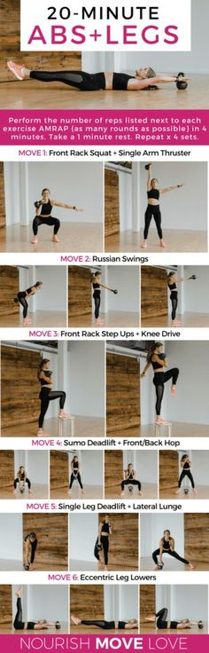 Six kettlebell exercises to increase lower body strength, core strength, and raise your heart rate; workout at home. Great workout for runners. Kettlebell Training, Strength Training Workouts, Workout Kettlebell, Workout Body, Kettlebell Routines, Trx, Fitness Inspiration, Yoga Pilates, Mental Training