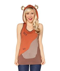 Pin for Later: 33 Pieces of Disney Workout Gear That'll Get You Pumped . . . Princess Style  Disney Ewok Hooded Tank for Women by Her Universe ($40)