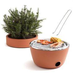 Pot de fleurs - barbecue pour balcon parisien