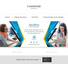 Buy E Signature by Doony on GraphicRiver. PSD File is fully layered and can easily be edited Shapes are vectors Colors and shapes can be changed without any lo. Safety Pictures, Email Signature Templates, E Signature, Nova, Email Signatures, Free Website Templates, Web Design, Graphic Design, Color Shapes
