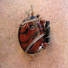 MAHOGANY - Gold Wire Wrapped Obsidian Pendant. | Flickr - Photo Sharing!
