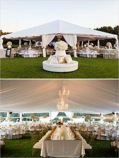 Gold and White Glam Wedding outdoor tent reception space wedding chicks Wedding Themes, Wedding Venues, Wedding Decorations, Wedding Ideas, Diy Wedding, Wedding Seating, Wedding Favors, Aisle Decorations, Trendy Wedding