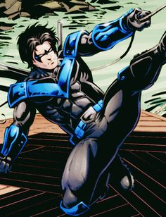 Sick as armoured night wing suit Nightwing Cosplay, Nightwing And Starfire, Robin The Boy Wonder, The New Teen Titans, Batman Universe, Dc Universe, Richard Grayson, Boys Anime, Arte Dc Comics