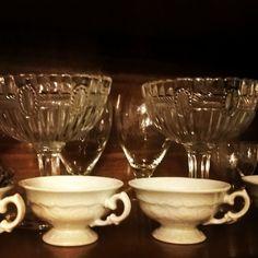 hortensja pucharki #hortensja#wawel#szkłoużytkowe#vintage#prl#porcelana