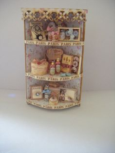 Miniature Corner Toiletry UnIt by SusanGutheridge on Etsy, £45.00