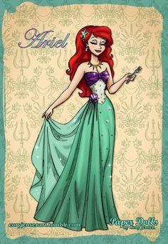 love art, music, Disney, and paper dolls! Disney Princess Fashion, Disney Princess Ariel, Disney Princess Drawings, Princess Art, Disney Drawings, Princess Luna, Princess Bubblegum, Disney Little Mermaids, Ariel The Little Mermaid