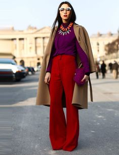 Best street style looks spotted at Paris Fashion Week Autumn / Winter 2013 | ELLE UK