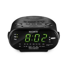 #10: Sony ICF-C318 Clock Radio with Dual Alarm (Black).