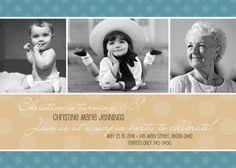 Custom Adult Photo Birthday Invitation Thank You Card Photo Birthday Invitations, Gold Invitations, Printable Invitations, Birthday Cards For Him, Birthday Wishes Cards, Adult Birthday Party, 25th Birthday, Birthday Ideas, Fabulous Birthday