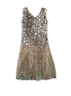 Blush by US Angels Girl s 20s Sparkle Dress (Silver Blush) Vestito D  94287f19ae1