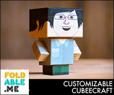 Cubeecraft for tuts and printouts on paper figures from nerdy geeky interests. Crafts For Teens, Arts And Crafts, Paper Crafts, Mario And Luigi Games, Paper Cube, Teen Programs, Assemblage, Toy Craft, Art And Technology