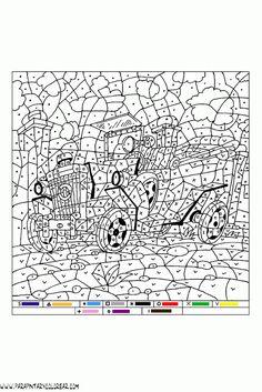 colorear-con-numeros-015 Pattern Coloring Pages, Colouring Pages, Printable Coloring Pages, Free Coloring, Adult Coloring Pages, Coloring Sheets, Coloring Books, Adult Color By Number, Color By Number Printable