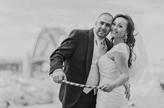 Wedding photo prop ideas - red stripes hooler hoops